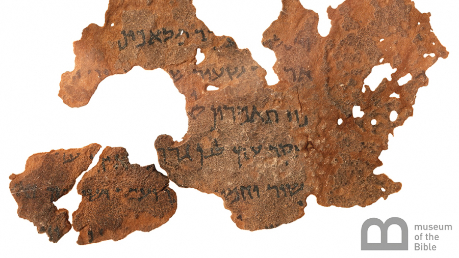 Photo of a scrap of biblical papyrus