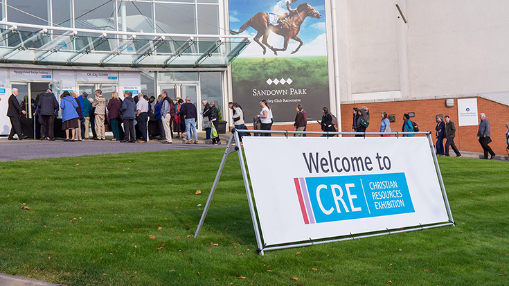 Photo of crowds queueing forCRE 2017