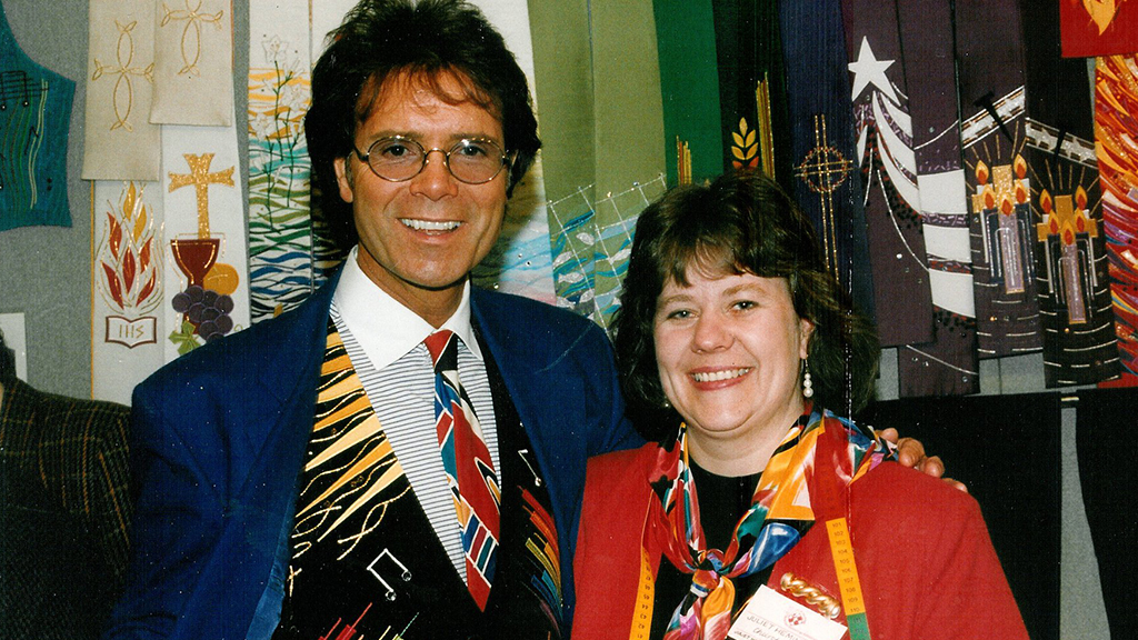 Cliff Richard with Juliet Hemingray
