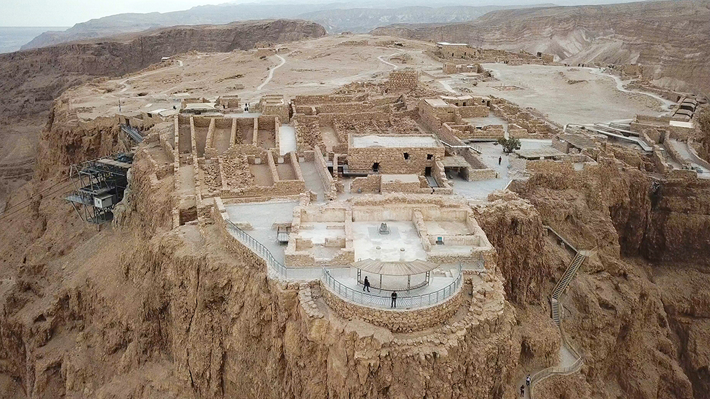 Photo of Masada, by the Dead Sea