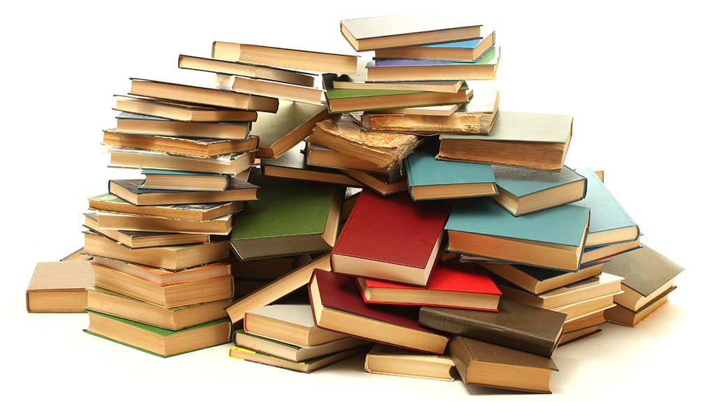 Photo of a pile of books