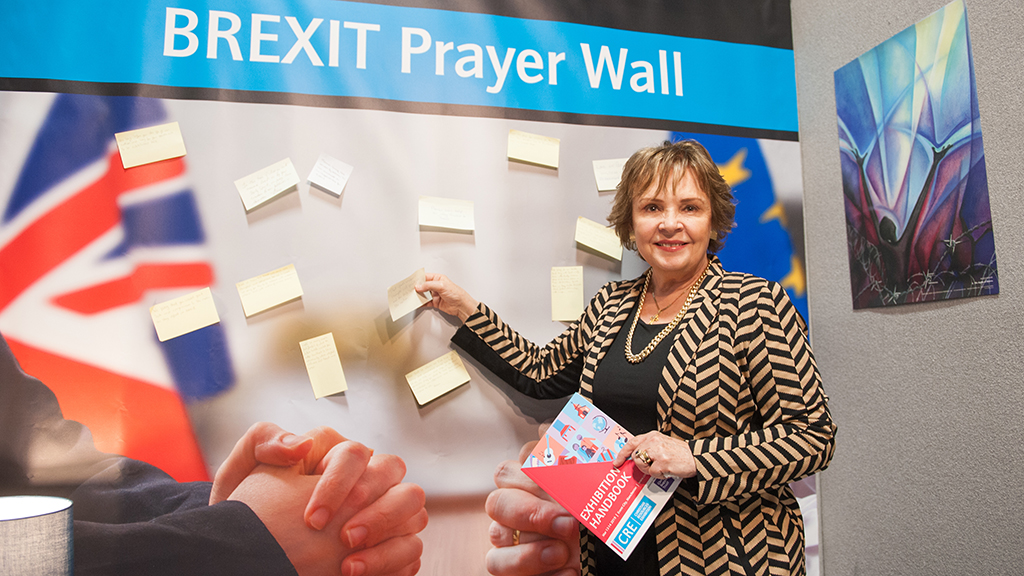 Photo of CRE prayer wall