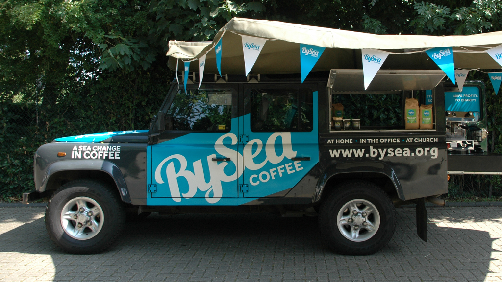 Photo of BySea's Land Rover coffee bar