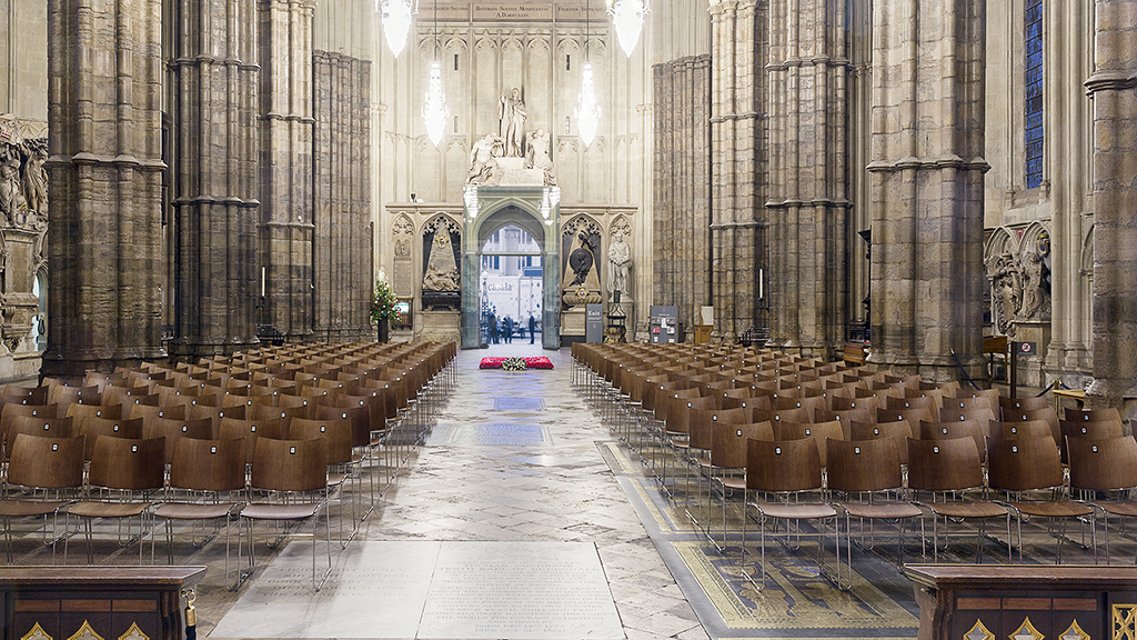 Photo of Casala chairs inside Westminster Abbey
