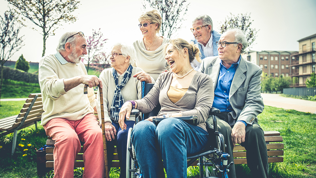 Photo of old people laughing