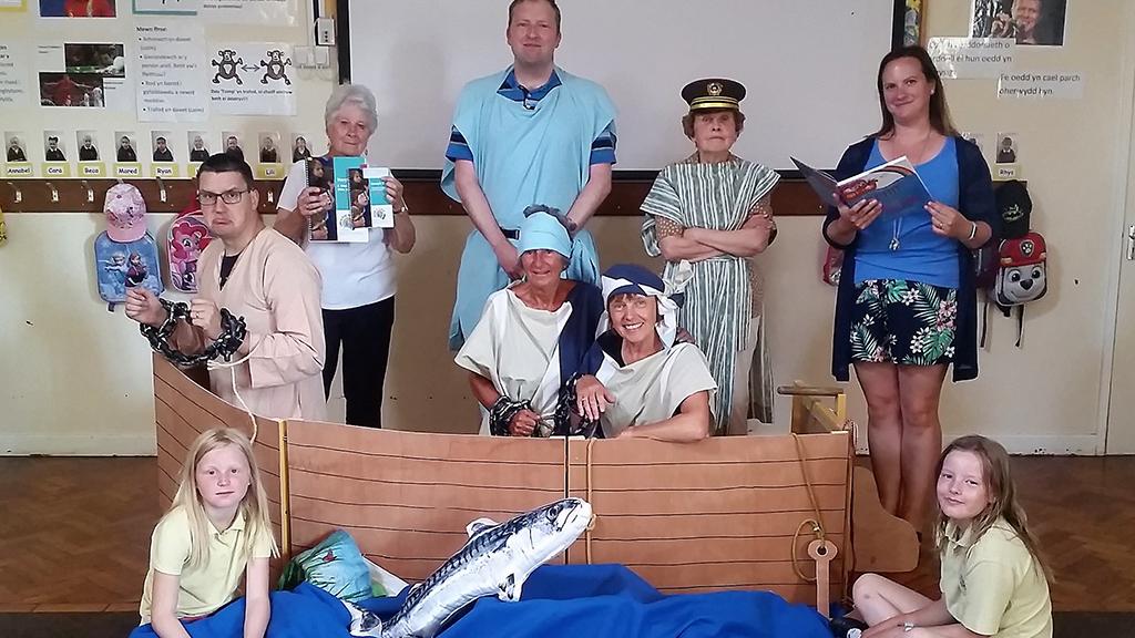 Open the Book's Nefyn team, in Gwynedd, Wales