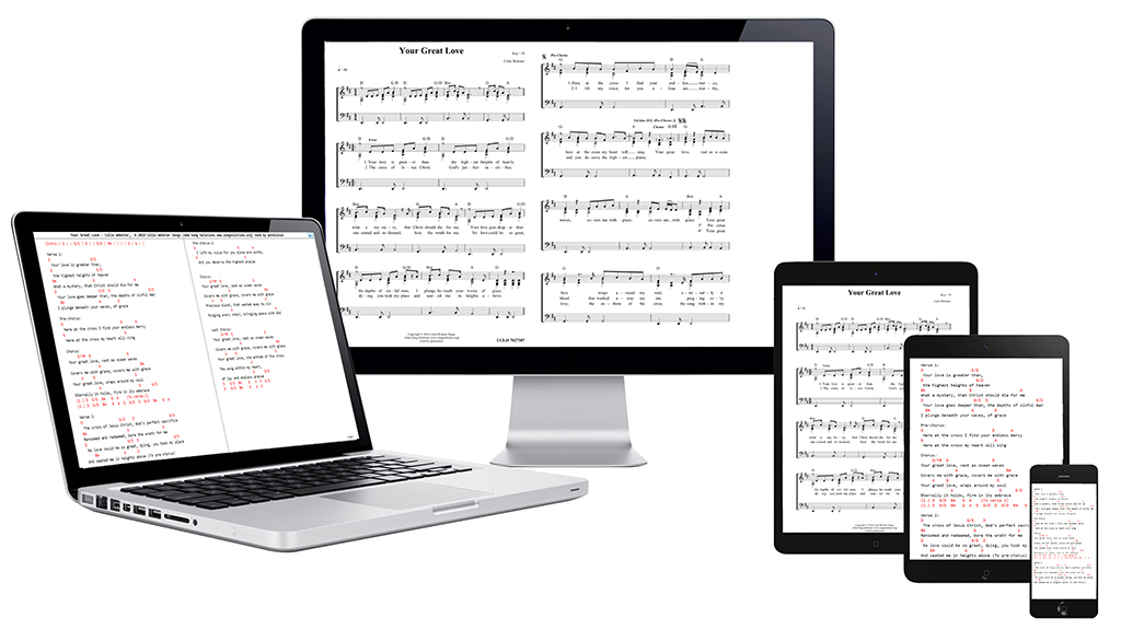 Photo of digital sheet music