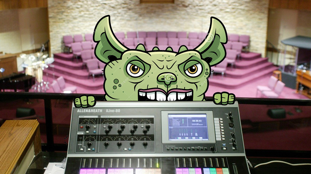 Graphic of church gremlins