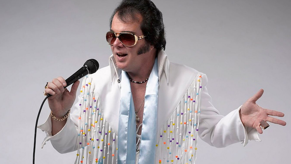 Photo of an Elvis impersonator