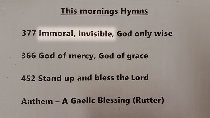Contributor: Barry Whitfield discovers heresy in a hymn.