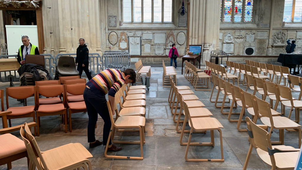 Theo chairs in Bath Abbey
