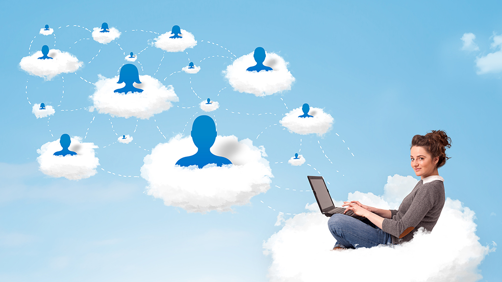 Social media user on a cloud