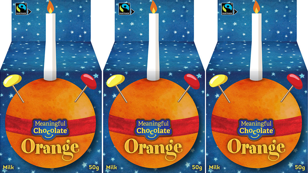 Christingle chocolate orange