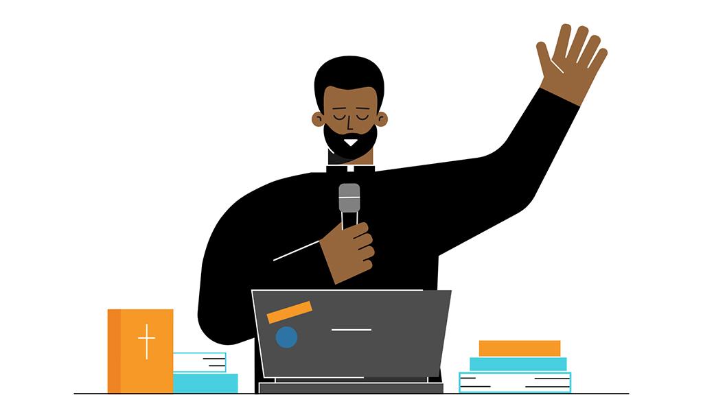 preaching on online church